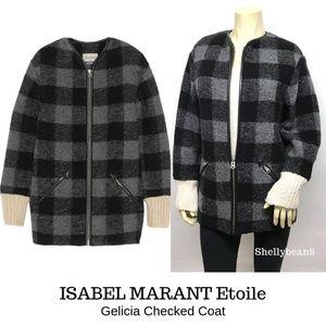 ISABEL MARANT ETOILE Gelicia Coat Jacket 34 XS S M